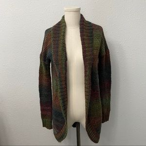 AEO Multi Colour Open Front Knit Cardigan
